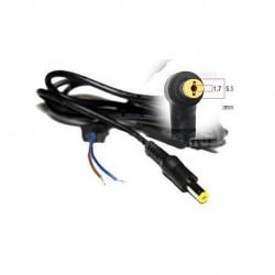 Захранващ кабел с букса за лаптопи ACER, 5.5x1.7mm, 1.2m