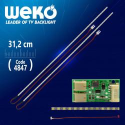 """LED Ленти 14 - 24"""" инча със драйвер за Монитори и Телевизори  ( 31см. Универсални )"""