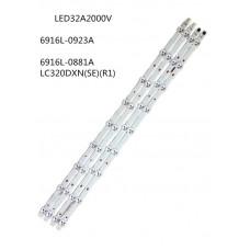 """LED BAR 32 """" инча LG 916L-0881A 6916L-0923A ( 9 Диода/ 4 ленти )"""