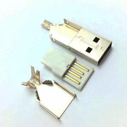 Конектор, USB A, мъжки, за запояване