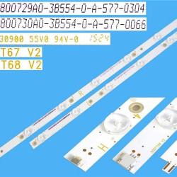 LED Комплект Philips 50'' инча 500TT67 V2 ( 12 ленти 6/5 диода 6/7 диода )