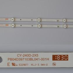"""LED Комплект за 24"""" инча Китайски модел cy-240d-2x5 / PB04D397103BL041-001H ( 5 диода 3 волта - 39.7 см )"""