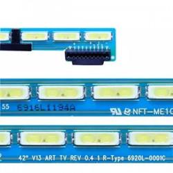 LED Комплект LG 42 инча V13 ART TV REV 0.4 L/R  ( 54/57 диода 46.2 см )