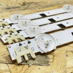 LED Комплект Samsung 32 inch Sharp HD Оригинални  D2GE-320SC1-R0 ( 5 ленти с по 9 диода , 65.7 см. )