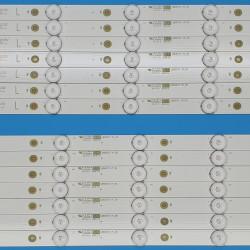 """LED Комплект Philips 55 """" инча ( 14 ленти по 7 диода L/R )"""