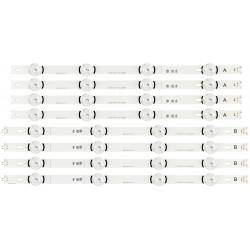"""LED Комплект LG 42""""  LC420DUE / HC420DUN AGF78402101 ( 4хА , 4хB / 8-ленти ) Оригинални Заместители"""